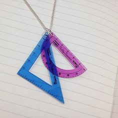 Whether you're a stylish student or teaching the class, you need our Set Square Necklace: http://www.tattydevine.com/set-square-necklace.html
