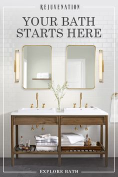 Beautiful master bathroom decor tips. Modern Farmhouse, Rustic Modern, Classic, light and airy master bathroom design a few ideas. Bathroom makeover tips and bathroom remodel tips. Bad Inspiration, Bathroom Inspiration, Bathroom Ideas, Bathroom Furniture, Bathroom Gallery, Bathroom Trends, Bathroom Designs, Wooden Furniture, Bathroom Interior
