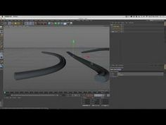 Cinema 4D Tutorial Using multiple splines for direction in a sweep