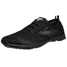 Aleader Mens Quick Drying Aqua Water Shoes Carbonblack 10 DM US *** Check this awesome product by going to the link at the image.Note:It is affiliate link to Amazon.