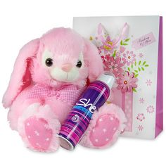 Bring a smile on your sweetheart's face as you gift her this hamper which includes 'She is sexy' 150 ml deodorant, a bunny soft toy and a paper gift bag. Birthday Hampers, Birthday Gifts, Hampers For Her, Paper Gift Bags, Deodorant, Bunny, Teddy Bear, Smile, Collections