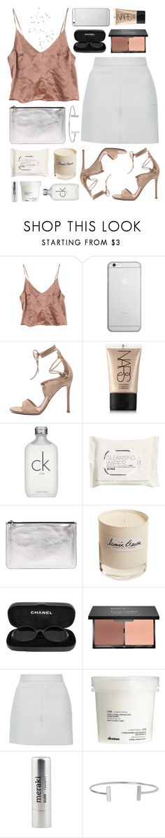 """Lumiere Blanche"" by sophiehackett ❤ liked on Polyvore featuring Native Union, Gianvito Rossi, NARS Cosmetics, Calvin Klein, H&M, Alexander McQueen, Olfactive Studio, Chanel, blacklUp and Topshop"
