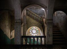 Abandoned hospital in Tanzania, German built with Moorish influences