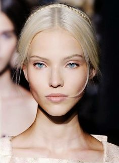 Sasha Luss // ethereal makeup and hair