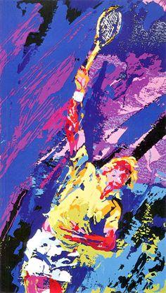 Classic serve by neiman, leroy. Henri Matisse, Leroy Neiman, American Football, Rodeo, Sport Craft, Academic Art, Sports Graphics, Naive Art, Sports Art
