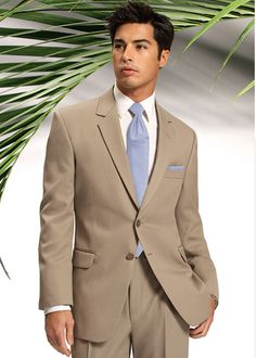 After Six Catalina tan suit tuxedo. Go island style in this beautiful tan suit that can be dressed up or dressed down for any occasion. Ideal for destination weddings. Fall Wedding Tuxedos, Tan Wedding, Tuxedo Wedding, Wedding Suits, Wedding Ideas, Dream Wedding, Wedding Attire, Wedding Planning, Vestidos