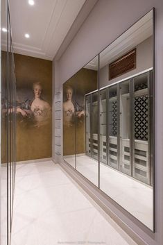 A Luxurious Villa with Brass-Gold Details and Timeless Monotones | AURA Interiors - The Architects Diary Bedroom Closet Design, Wardrobe Design, Glazed Walls, Wooden Textures, Soothing Colors, Rustic Theme, Beige Walls, Textured Walls, Cladding