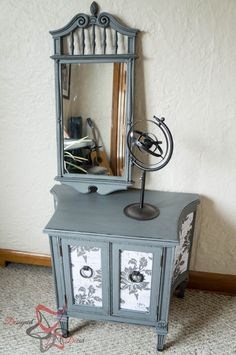 French decoupage cabinet-painted furniture-DIY-Maison Blanche Vintage Furniture Paint