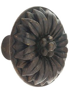 Small Flower Cabinet Knob with Choice of Finish.|House of Antique Hardware