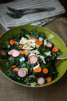 On the Job: Coconut Kale Salad with Avocado and Pickled Vegetables