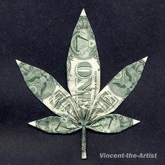 Origami Marijuana Leaf
