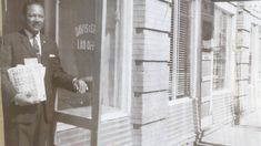 An image of Ralph J. Diamond, an insurance agent, standing in front of the African American Masonic Temple building in Fort Worth in 1960. The African American Masonic Temple in Fort Worth was built in 1907 and was a key location for black businesses, law practices and community events. It was torn down as part of urban renewal in the mid-1960s. #blackhistory #dallas #texas #freemasonry...