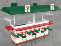 Mobile 7-11 coffee kiosk. Designed for on the spot service. www.Cart-King.com More