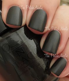 OPI Gwen Stefani Collection - 4 In The Morning is a black satin. This is a black base with a soft silver shimmer that dries down to a satin matte finish Great Nails, Cute Nails, Opi Collections, Opi Polish, Gwen Stefani, Beautiful Nail Art, Katy Perry, Beauty Hacks, Beauty Tips