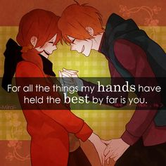 for all the things my hands have held, the best by far is you Anime Qoutes, Manga Quotes, Anime Love Couple, Cute Anime Couples, Sad Anime, Anime Manga, Anime Life, Saving Quotes, Meant To Be Quotes