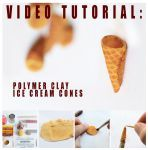 video tutorial - polymer clay ice cream cones by FatalPotato