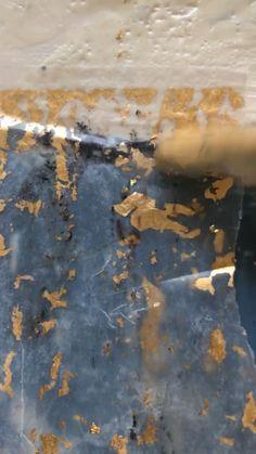 applying gold leaf to encaustic art - painting techniques Abstract Painting Techniques, Painting Tips, Art Techniques, Abstract Art, Painting Videos, Gold Leaf Art, Wax Art, Encaustic Painting, Acrylic Art