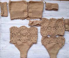 Crochet bikini crochet swimwear crochet swimsuit by MalaikaUA