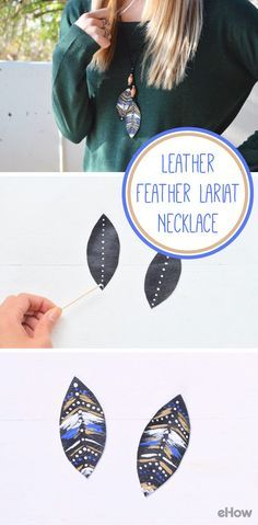 You don't need to spend almost $100 for this leather feather lariat necklace. We show you how to make this piece at home for a fraction of the cost! Get this bohemian accessory to add to any outfit for additional texture and depth. How-to here:  http://www.ehow.com/how_12343046_make-leather-feather-lariat-necklace.html?utm_source=pinterest.com&utm_medium=referral&utm_content=freestyle&utm_campaign=fanpage
