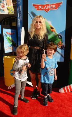 Ashlee Simpson and sons at the premiere of #Disney #Planes