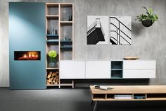 Home - Arti Design Oosterhout - Arti Design Minimalist Living, Retro Design, Storage Shelves, Interior Inspiration, Bookcase, Couch, Cabinet, Living Room, Interior Design