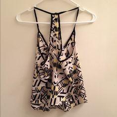 Host PickZARAYellow and black pattern top Sure cute and chiffon Zara Tops