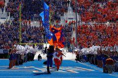 Boise State New Football Stadium   boise id september 15 boise state broncos mascot buster bronco leads ...