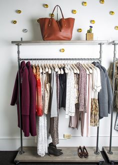 A rack of clothes at Citizen Stone, one of #chicago's newest boutiques