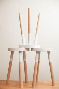 handmade wooden stool (18 inch)