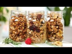 Healthy Granola | 3 Delicious Recipes - YouTube
