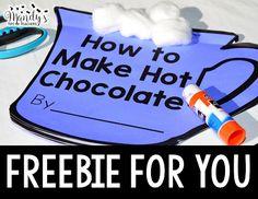 How-To Make Hot Chocolate freebie Co Teaching, Teaching Activities, Teaching Writing, Motor Activities, Teaching Ideas, First Grade Writing, First Grade Math, Second Grade, Grade 2