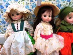 25 Dolls including bisque, Madame Alexander, unusual male bisque doll, corn husk, dried apple, folk