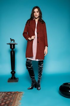 Róza coat by Celeni Brown, Coat, Jackets, Fashion, Down Jackets, Moda, Sewing Coat, Fashion Styles, Brown Colors