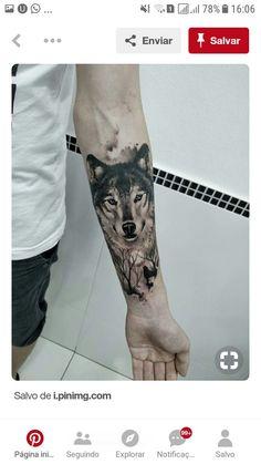 Wolf tattoo by Marciel da Silva, Gaspar, SC. - Wolf tattoo by Marciel da Silva, Gaspar, SC. Wolf Tattoo Forearm, Wolf Tattoo Sleeve, Cool Forearm Tattoos, Body Art Tattoos, Sleeve Tattoos, Tatoos, Tattoo Art, Tattoo Wolf, Lion Tattoo