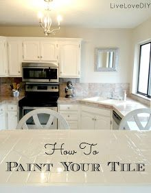 How To Paint Tile to Refresh Your Kitchen or Bath - OK, this is amazing! I did not know you could paint tile and have it come out so right - but you really can. Need to keep this in mind.