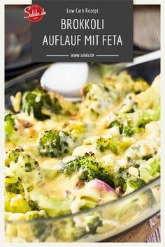 Low Carb Brokkoli-Käse-Gratin - essenCheese and broccoli always fit. If you add feta and put it all in the oven, you get a vegetarian low carb broccoli feta casserole. Try it out and tell us how to find the broccoli feta casserole. Broccoli Gratin, Broccoli And Cheese, Broccoli Casserole, Low Carb Recipes, Vegetarian Recipes, Healthy Recipes, Healthy Food, Menu Dieta Paleo, Low Carb Diet