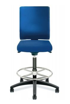 Dauphin Adjust Office Stool in Blue