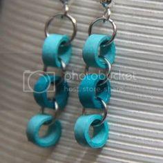 Diy Earrings Paper, Diy Quilling Earrings, Paper Bead Jewelry, Paper Beads, Bead Earrings, Beaded Jewelry, Handmade Jewelry, Jewellery, Sterling Silver Earrings