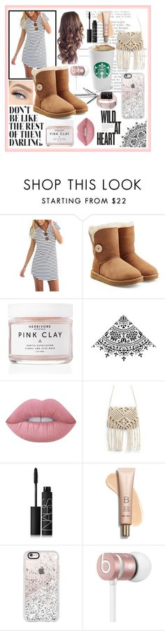 """""""Morning Attire <3"""" by rhiannonpsayer ❤ liked on Polyvore featuring UGG, Herbivore, Lime Crime, NARS Cosmetics, Casetify and Beats by Dr. Dre"""