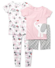 Carter's Baby Pajamas, Baby Girls 4-Piece PJs - Kids Baby Girl (0-24 months) - Macy's