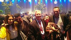 """VP Arthur Skinner and ZCorum consultant, Henk Boers hanging out with the #Glee crew and """"walkers"""" from The Walking Dead."""