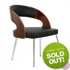 Sitting Pretty Furniture - Gatsby Dining Chair - Walnut/Black - DUE LATE SEP