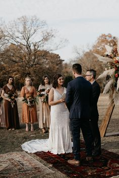 This bohemian outdoor wedding day in Fort Worth, Texas was absolutely STUNNING! Fall Wedding Dresses, Red Wedding, Wedding Day, Wedding Ceremony, Wedding Color Pallet, Wedding Colors, Traditional Wedding Decor, Fort Worth Wedding, Boho Wedding Decorations
