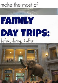 how to make the most of a day trip to museum, farm, or amusement park: before, during, and after activities