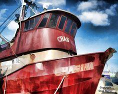 Fishing Boat Waiting for the Season to Start. Fishermen's Terminal, Seattle, Washington.