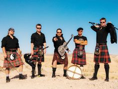 The Rogues. Handsome men in kilts who play kickass bagpipe music. What's not to like?