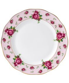 NEW COUNTRY ROSES PINK VINTAGE DINNER PLATE, ROYAL ALBERT