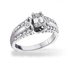 West End™, 14K White Gold Diamond Engagement Ring, 1.00 ctw. $4,647.99 So beautiful!!!!