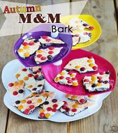 Autumn M&M Bark