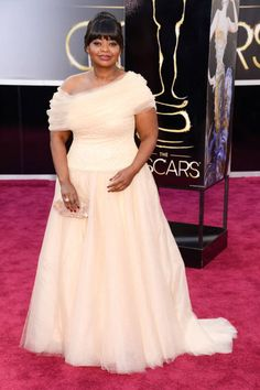 Red Carpet Coral 2015 Plus Size Formal Dresses Octavia Spencer in Oscar Gowns Evening Dresses Formal Party Gowns Celebrity Dress Plus Size Formal Dresses, Nice Dresses, Red Formal Gown, Celebrity Dresses, Celebrity Style, Peach Gown, Oscar Gowns, Oscar Fashion, Women's Fashion